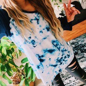 Woman within tie dye raglan oversized shirt p4